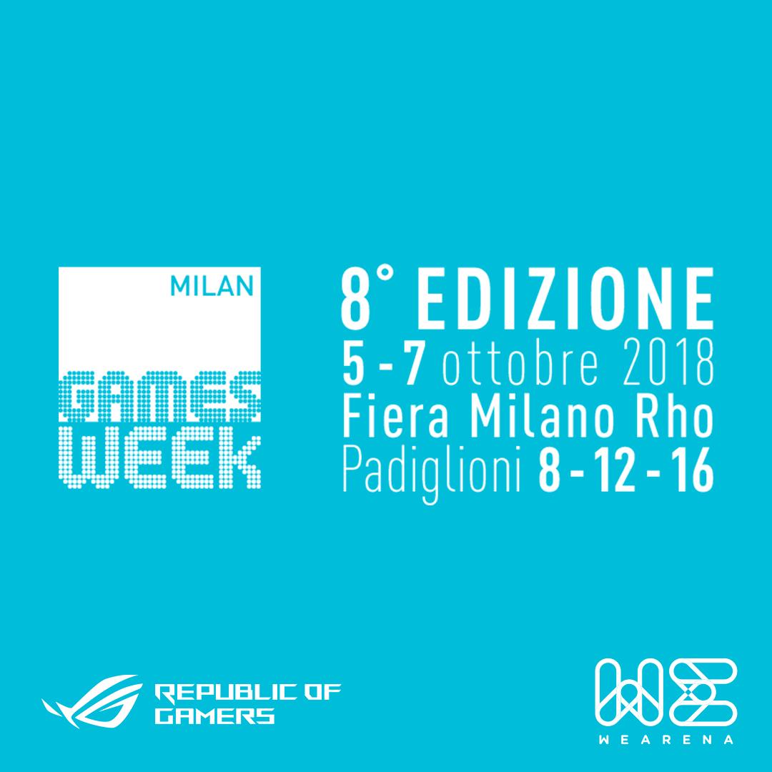 WeArenae ROG insieme alla Milan Games Week 2018