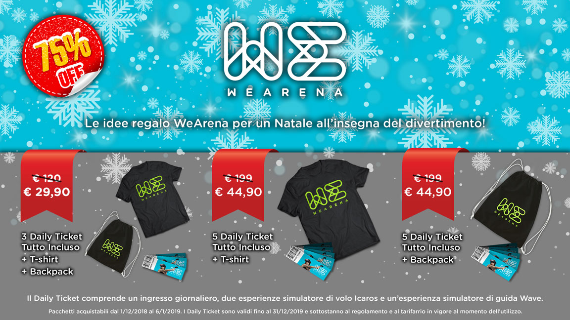 A Natale regala WeArena!